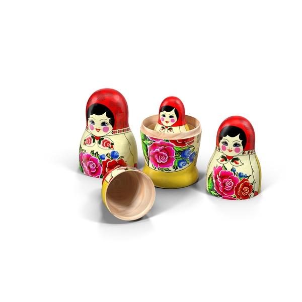 Babushka Nesting Dolls Object