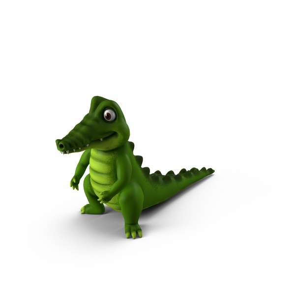 Cartoon Crocodile Object