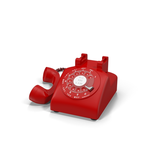 Red Rotary Phone Object