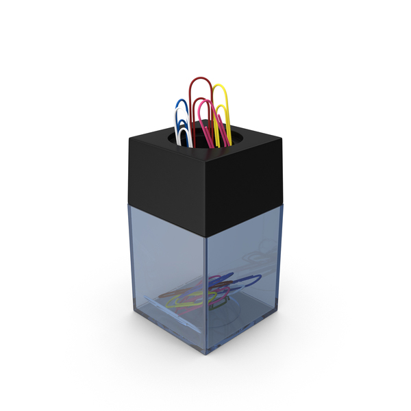 Magnetic Paper Clip Holder Object