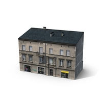 Storefront and Residential Building  Object