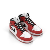 Nike Air Jordan 1 Red And Black Object