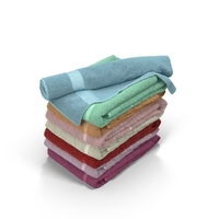 Colour Folded Towels Object