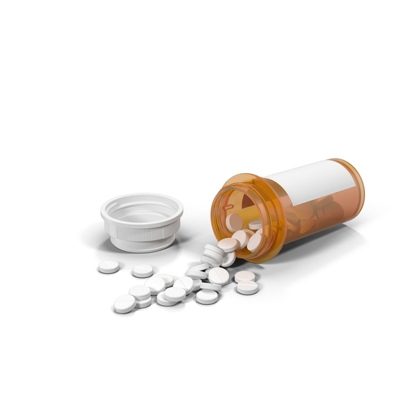 Spilled Pill Bottle Object
