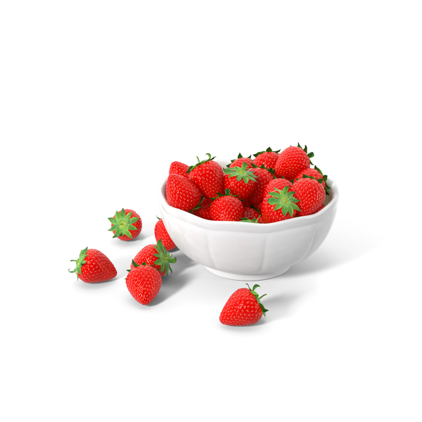 Bowl Of Strawberries Object
