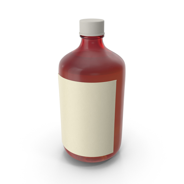 Cough Syrup Bottle Object