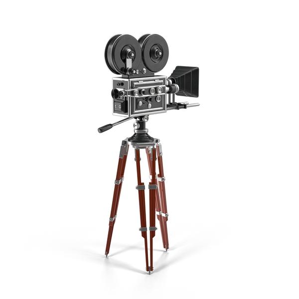 Vintage Movie Camera Object