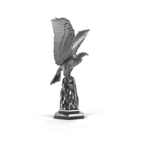 Silver Eagle Sculpture Object