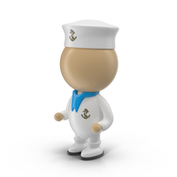 Cartoon Sailor Character Object