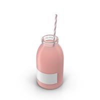 Strawberry Milk Bottle Object