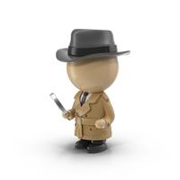 Cartoon Detective Object
