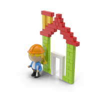 Cartoon Building and Character Object