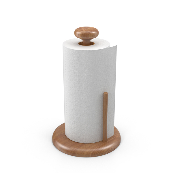 Paper Towel Roll on Holder Object