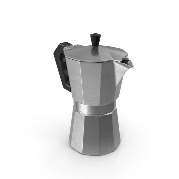 Stove Top Espresso Pot Object