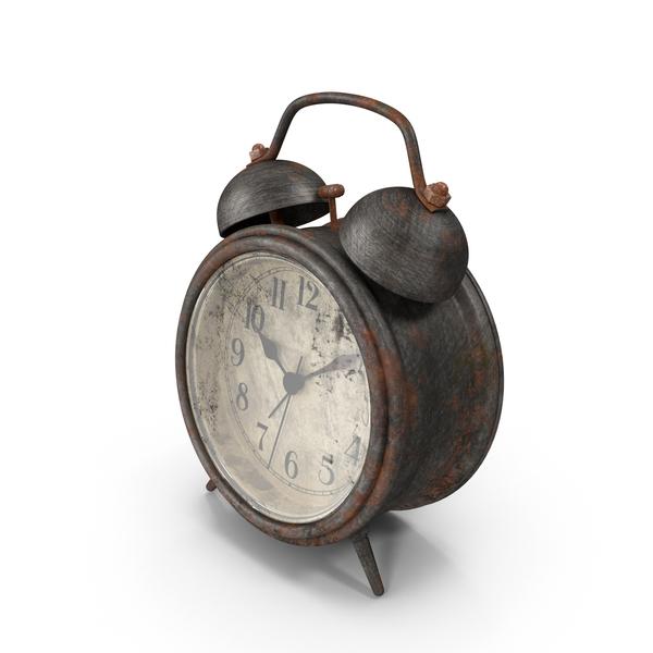 Dirty Tin Alarm Clock Object