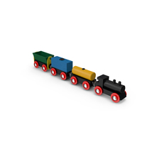 Toy Wooden Train Object