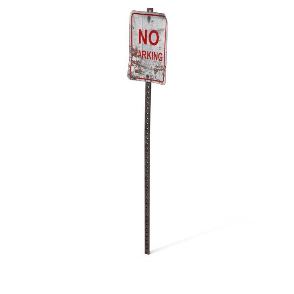 Destroyed No Parking Sign Object