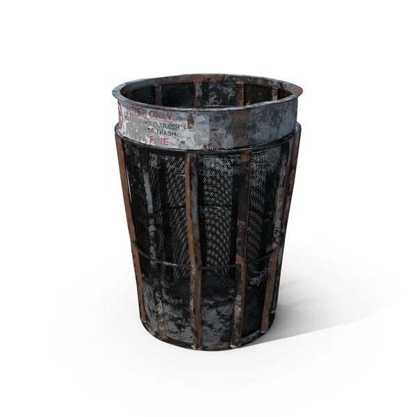 Destroyed New York Garbage Bin Object