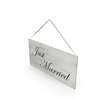 Just Married Sign  Object