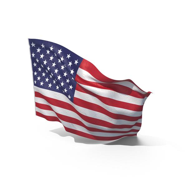 Waving American Flag Object