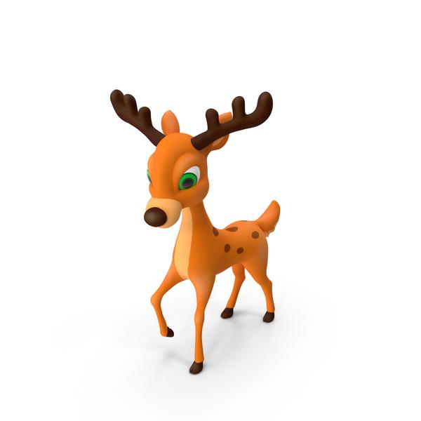 Cartoon Deer  Object