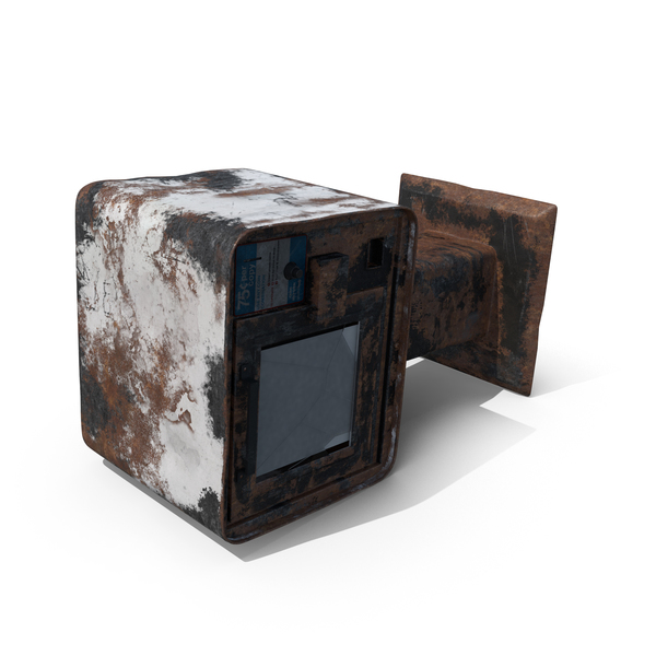 Destroyed Newspaper Box Object
