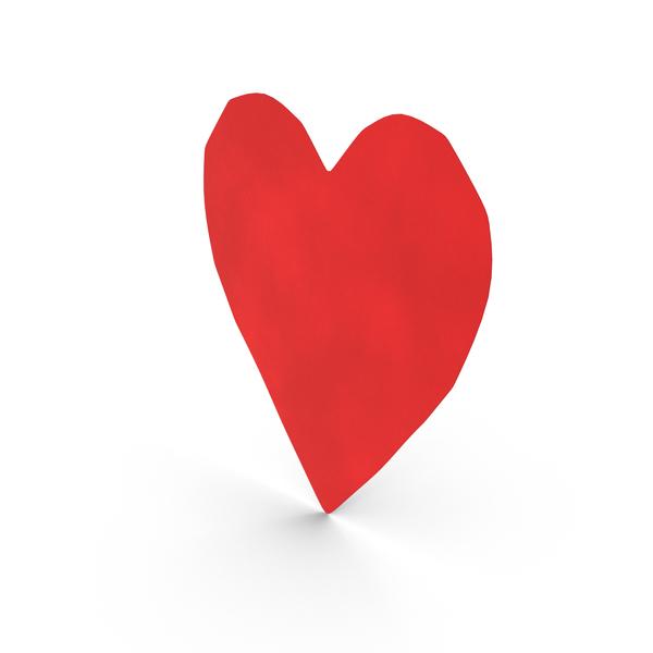 Paper Cutout Heart Object