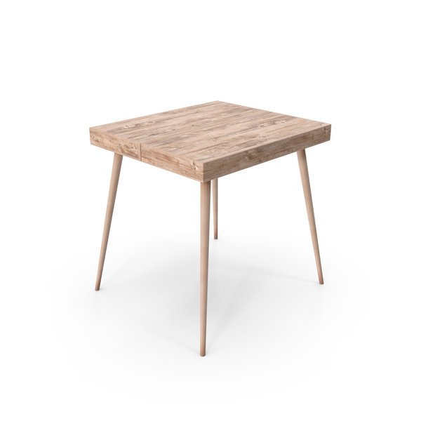 Wooden End Table Object