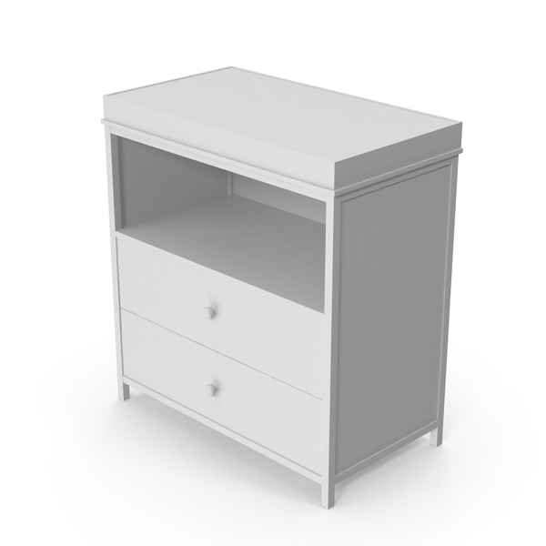 White Changing Table Object
