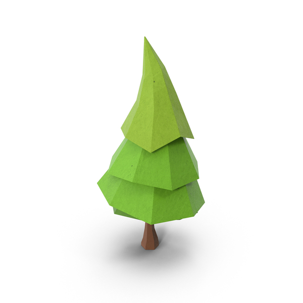 Low Poly Pine Tree Object