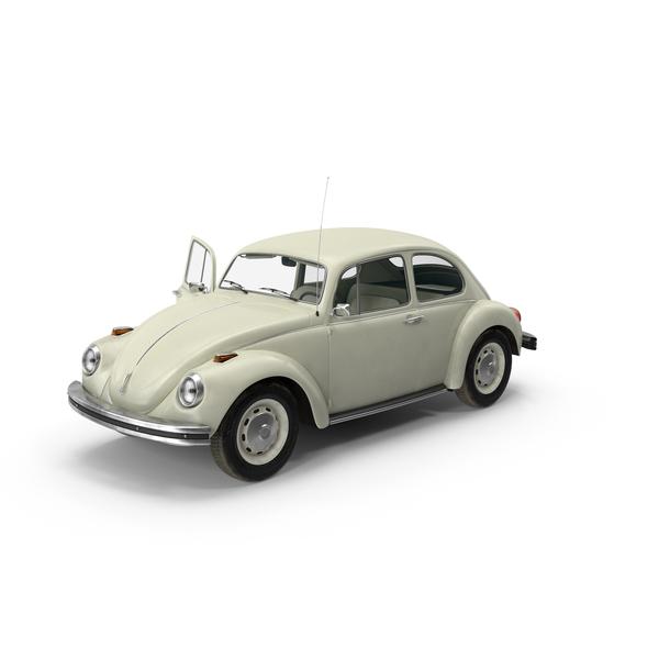 Volkswagen Beetle 1968 White Object