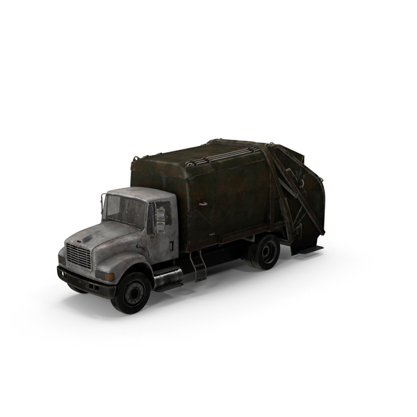 Weathered Dump Truck Object