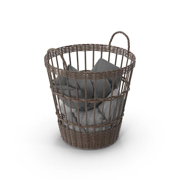 Wicker Basket Object