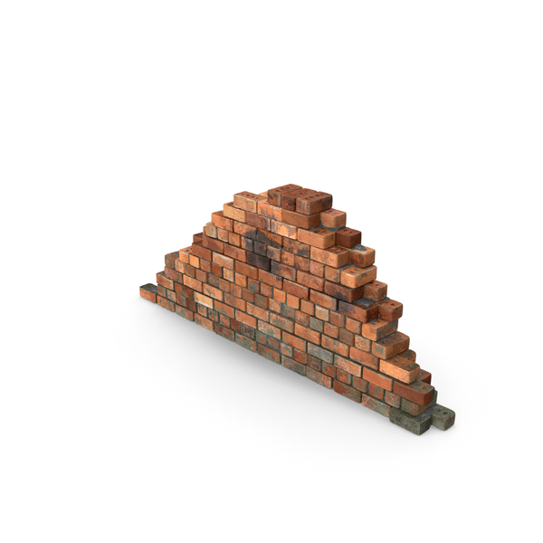 Dirty Brick Wall Section Object
