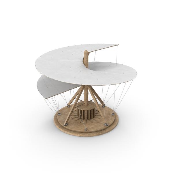 Leonardo Da Vinci's Aerial Screw Object