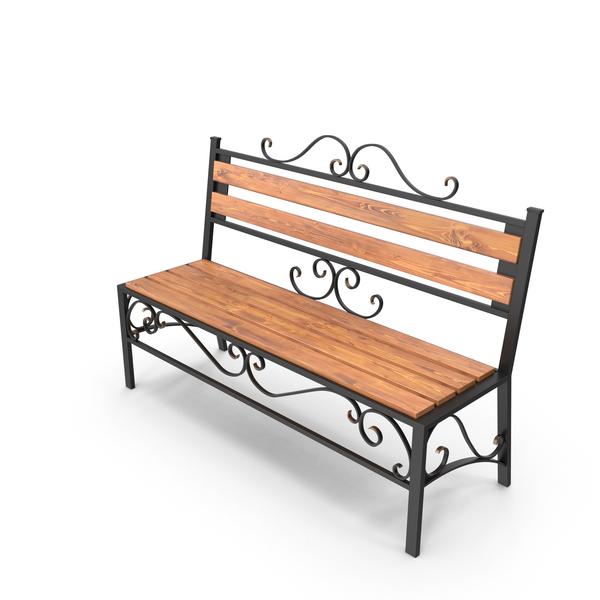 Garden Bench Object