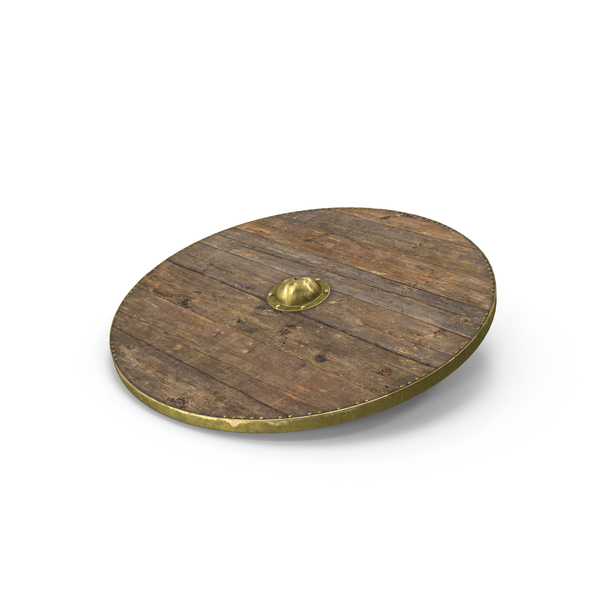 Medieval Wooden Shield Object