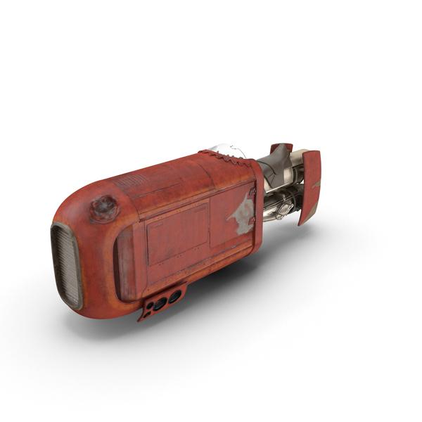 Rey's Speeder Bike Object