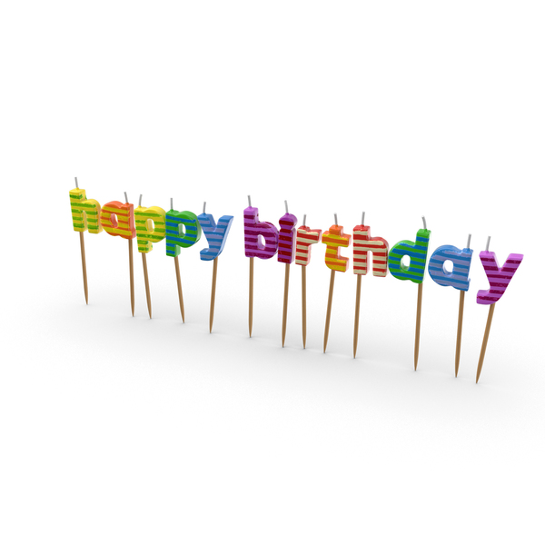 Happy Birthday Candles Object