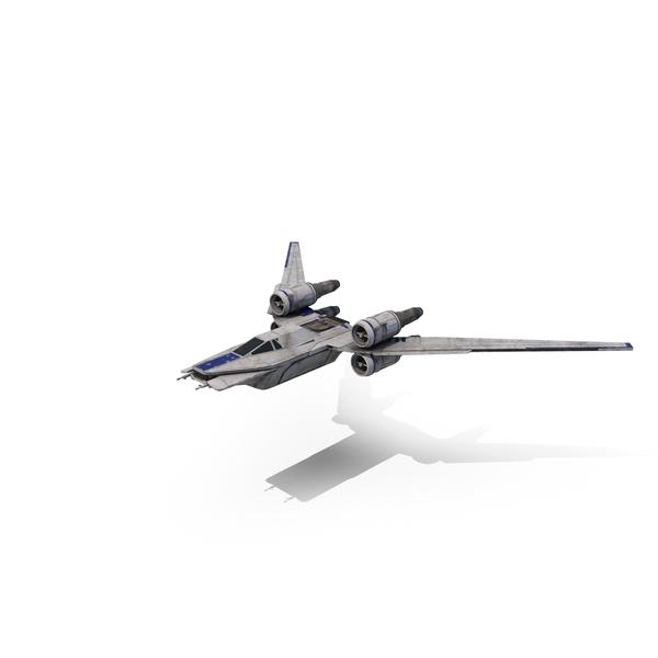 Rebel Starfighter (U-Wing) Flying Object