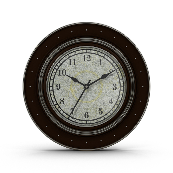 Black and Silver Clock Object
