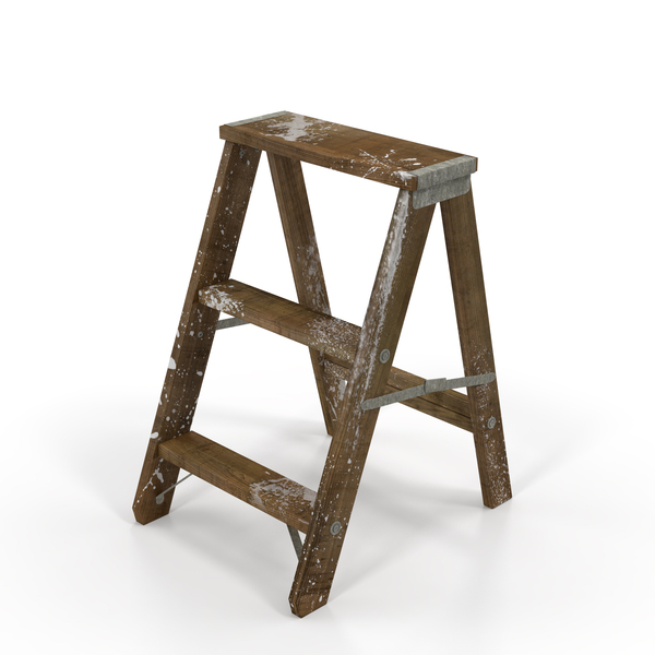Old Wooden Step Ladder By Pixelsquid360 On Envato Elements