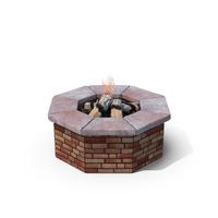 Brick Fire Pit Object